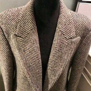 Burberry Tweed wool long jacket